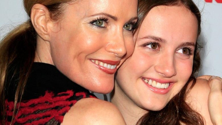 Leslie Mann hugs daughter Maude