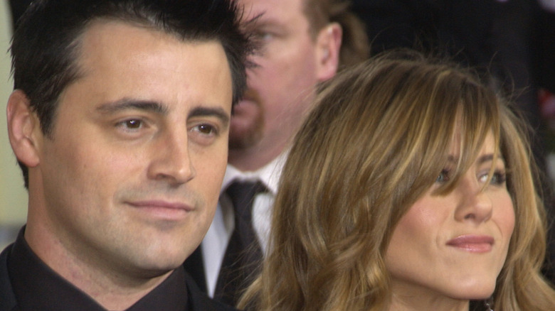 Jennifer Aniston and Matt LeBlanc on Friends.