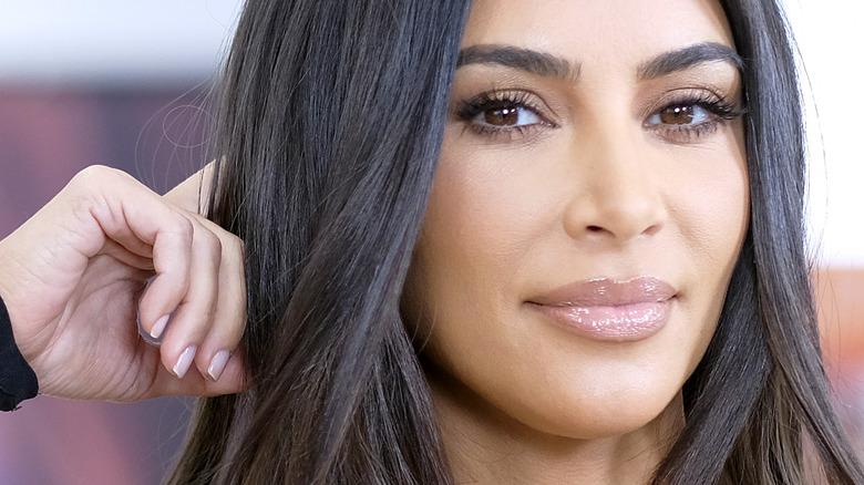 Kim Kardashian showing nail polish