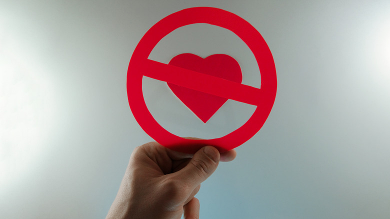 love heart no entry sign