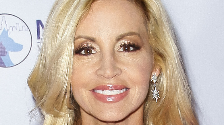 Camille Grammer poses on the red carpet