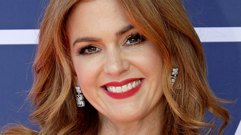 Isla Fisher smiling