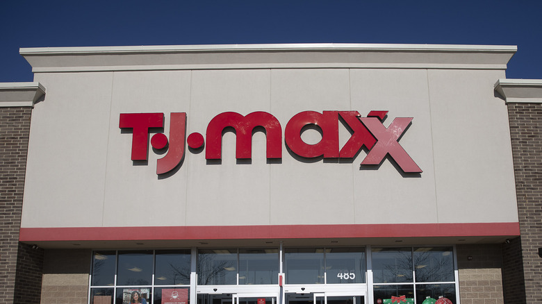 TJ Maxx sign on a store.