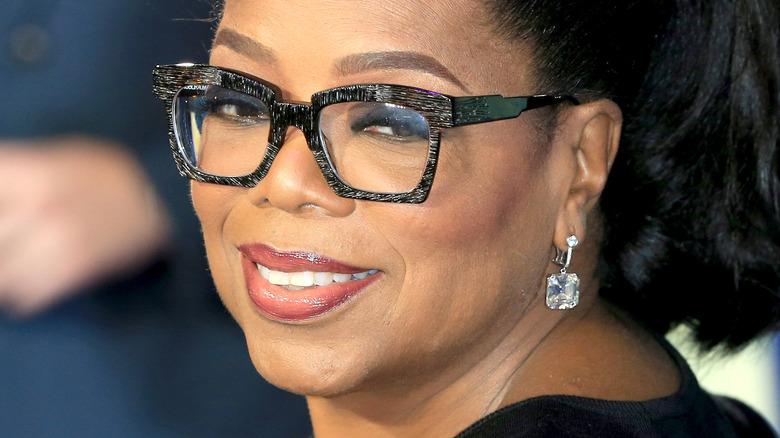 Oprah Winfrey with a ponytail