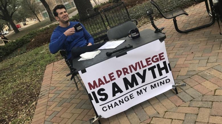 Steven Crowder original 'change my mind' meme
