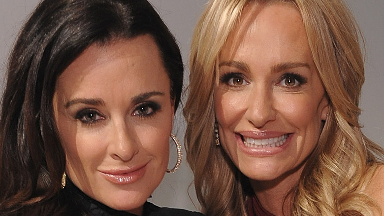 Kyle Richards and Taylor Armstrong of Real Housewives