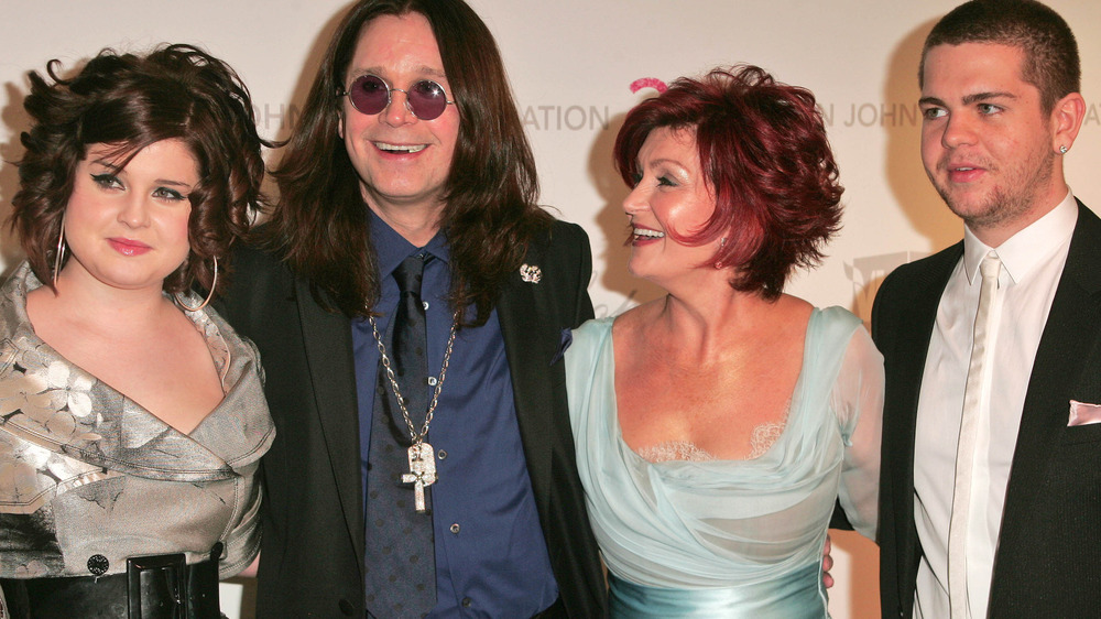 The Osbourne family pose together