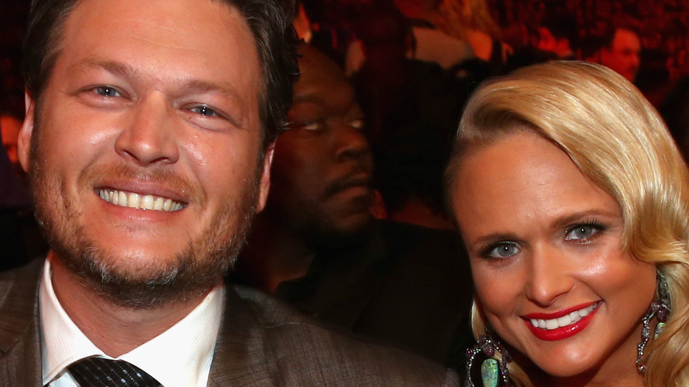 Blake Shelton and Miranda Lambert smiling