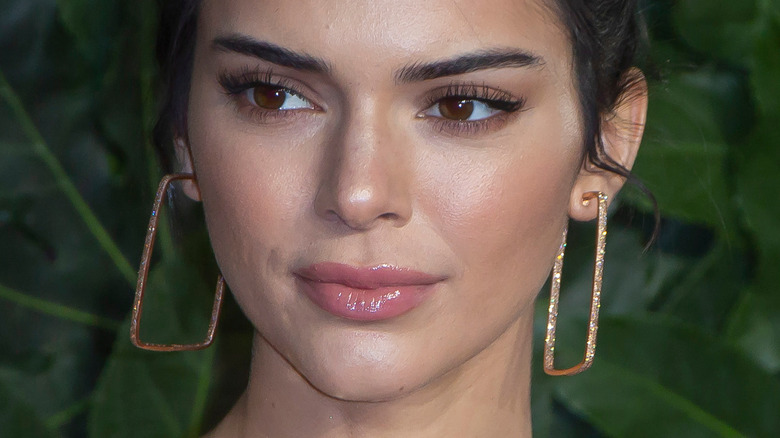 Kendall Jenner with rectangle earrings