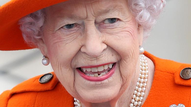 Queen Elizabeth smiling broadly