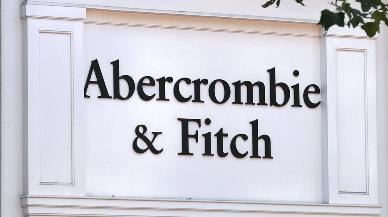 Abercrombie & Fitch signage