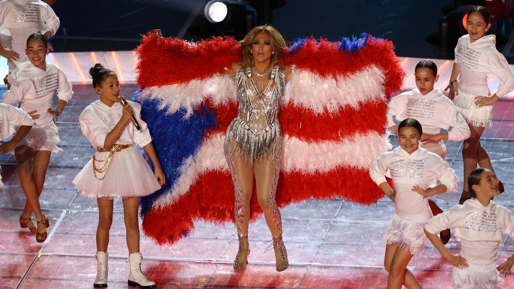Jennifer Lopez at Super Bowl 2020