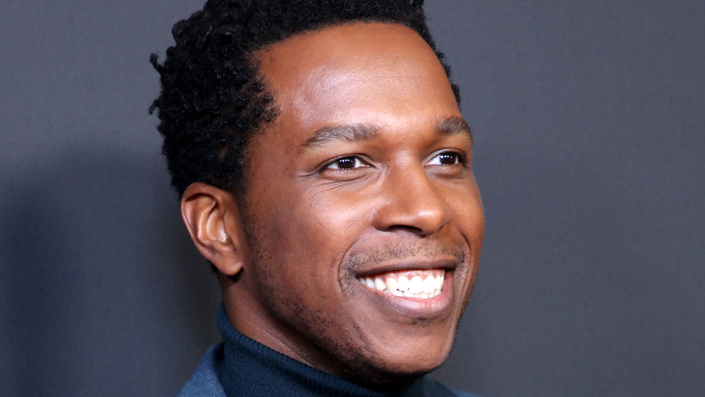 Leslie Odom, Jr. smiling