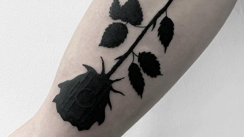 Red rose tattoo dark 60 Rose