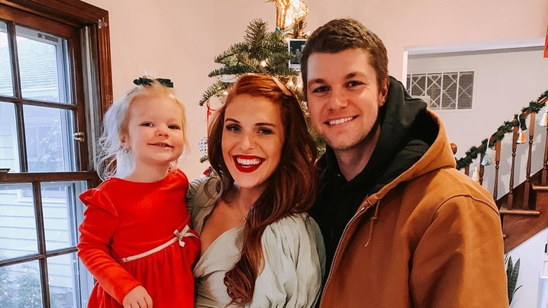 Audrey and Jeremy Roloff with daughter Ember