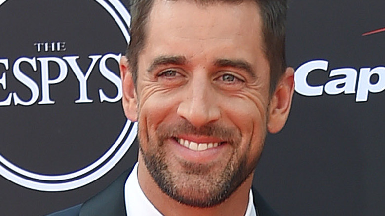 Aaron Rodgers at event