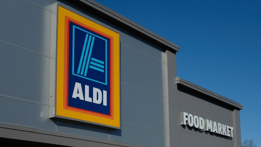 Exterior of an Aldi store