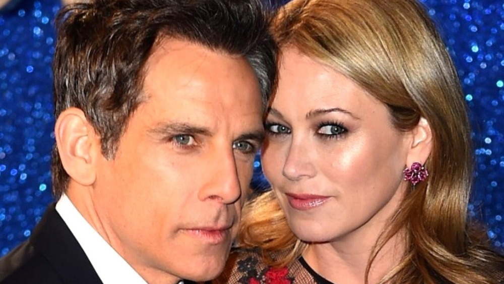 Ben Stiller and Christine Taylor posing