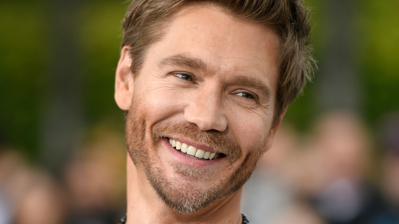 Chad Michael Murray smiles at an event
