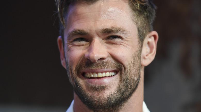 Chris Hemsworth laughing