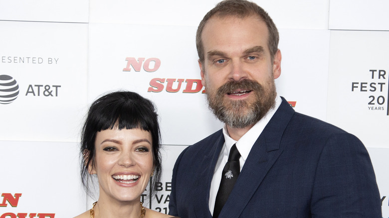 David Harbour and Lily Allen on the red carpet