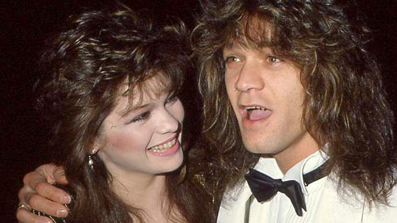 Valerie Bertinelli smiles at Eddie Van Halen