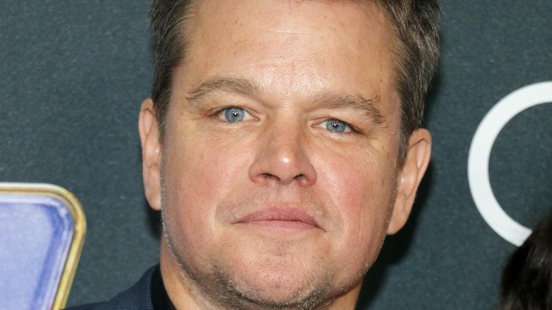 Matt Damon poses on red carpet