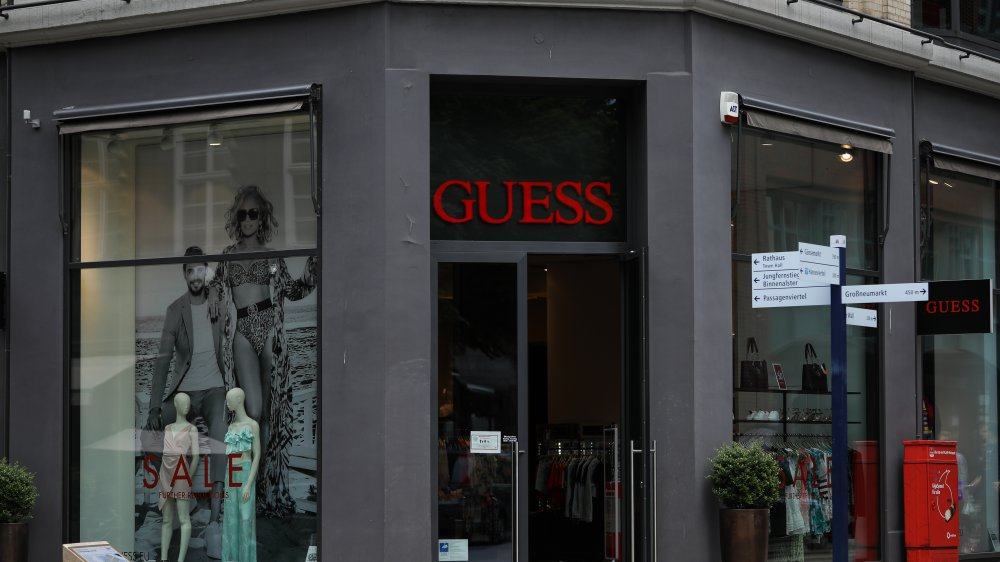 Exterior of Guess store in Germany