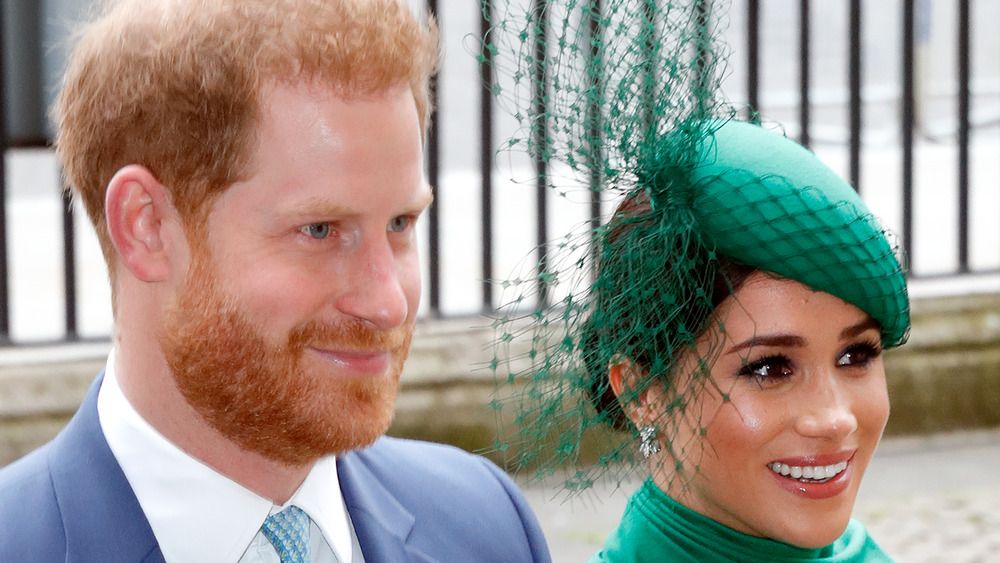 Duke and Duchess of Sussex green hat
