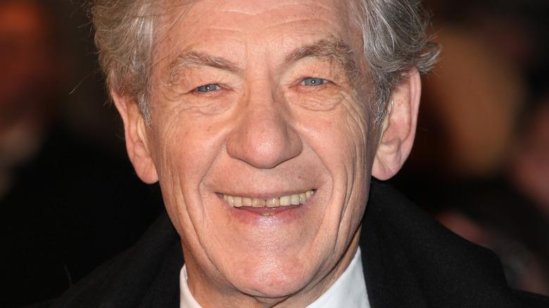 Ian McKellen smiling at an event
