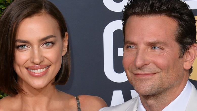 Irina Shayk and Bradley Cooper smiling