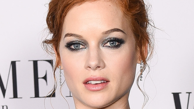 Jane Levy poses on the red carpet