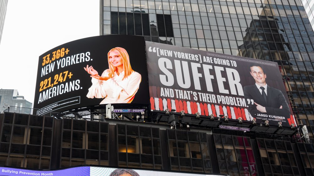 Billboards over New York's Times Square