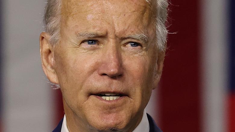 Joe Biden delivering speech