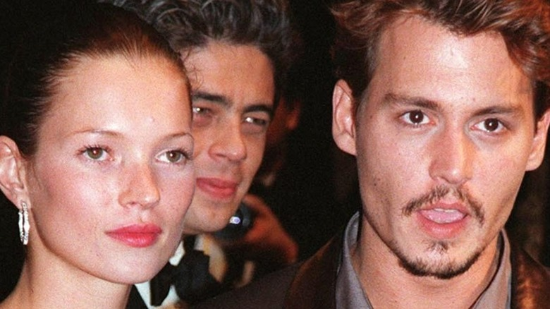 Kate Moss and Johnny Depp on the red carpet