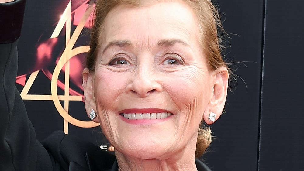 Judge Judy smiling at an award show