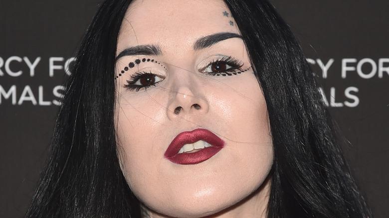 Kat Von D wearing makeup