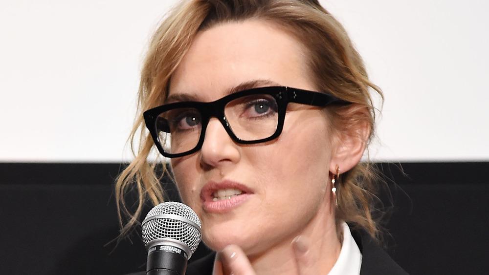 Kate Winslet in black-rimmed glasses