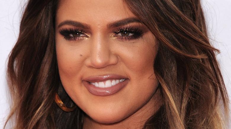 Khloé Kardashian with nude lips