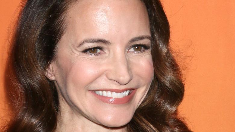 Kristin Davis smiles on the red carpet