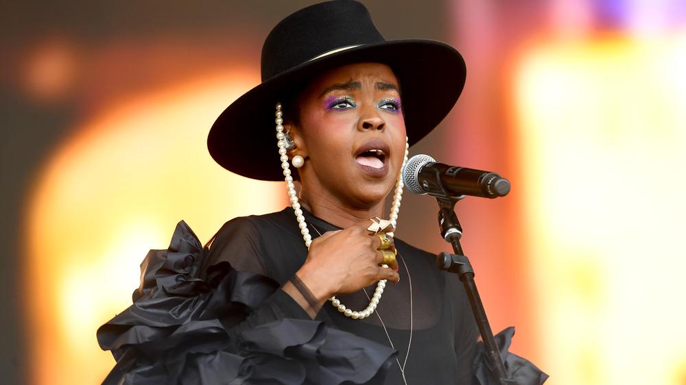Lauryn Hill performing