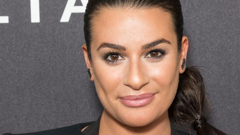 Lea Michele smiles