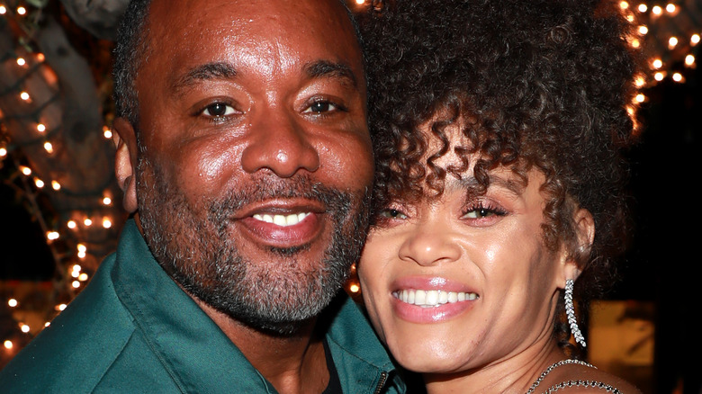 Lee Daniels poses with Andra Day