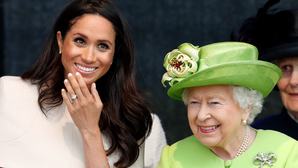 Meghan Markle and Queen Elizabeth at an event