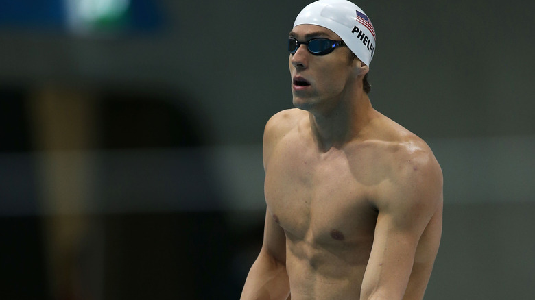 Michael Phelps pre-race