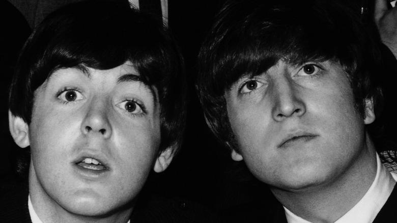 Young Paul McCartney, John Lennon