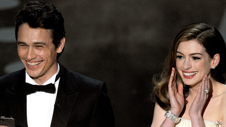 James Franco and Anne Hathaway present the Oscars together