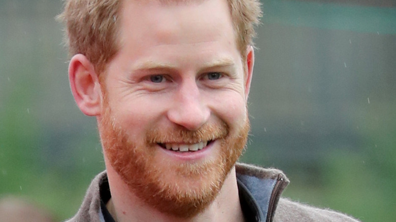 Prince Harry smiles at an event