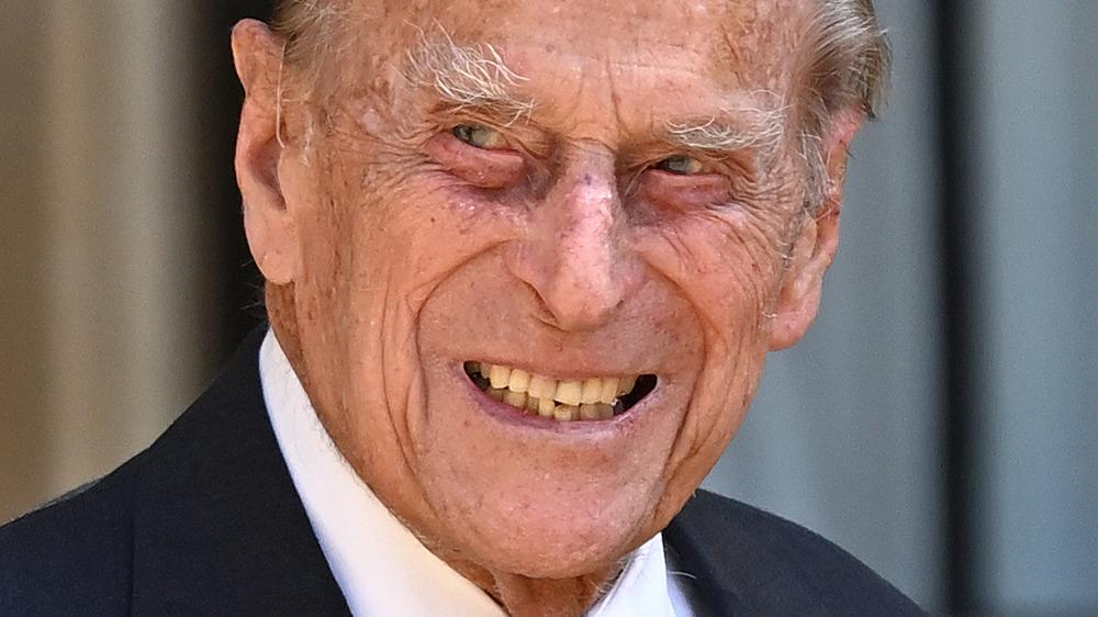 Prince Philip smiling.