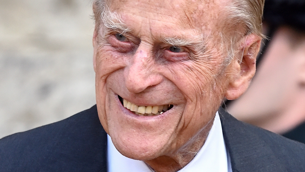Prince Philip smiling in suit